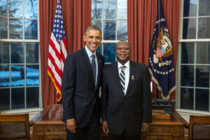 Ambassador Mahlangu Presents Credentials to President Obama.