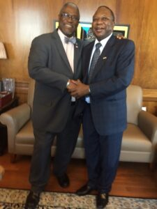 Amb Mahlangu , meeting Mayor Sly James