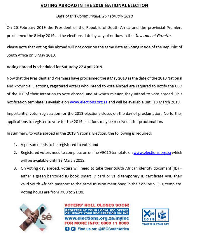e9541f8a5ba7 The 13 March 2019 is the last day to notify the CEO of the IEC of ...